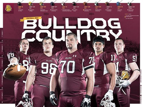 Minnesota Duluth Bulldogs 2014 poster schedule 2