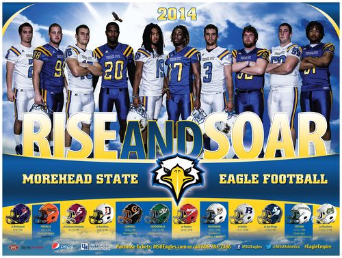 Morehead State Eagles 2014 poster schedule