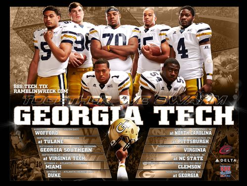 Georgia Tech Yellow Jackets 2014 poster schedule