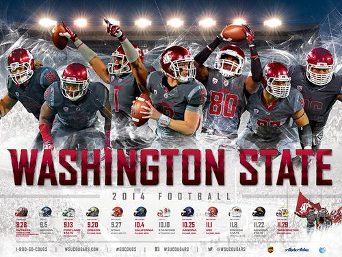 Washington State Cougars 2014 poster schedule