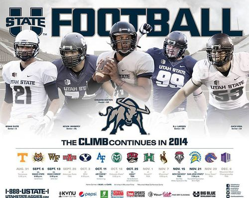 Utah State Aggies 2014 schedule poster