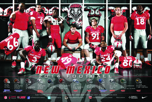 New Mexico Lobos 2014 schedule poster