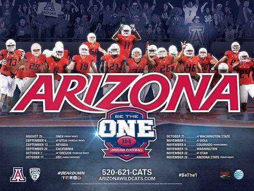 Arizona Wildcats 2014 poster schedule