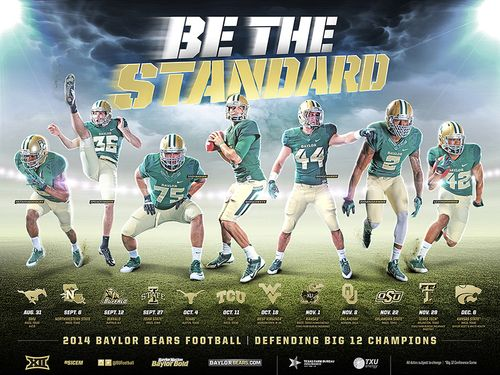 Baylor Bears 2014 poster schedule