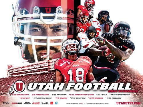 Utah Utes 2014 poster schedule