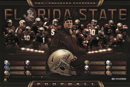 Florida State Seminoles 2014 schedule poster