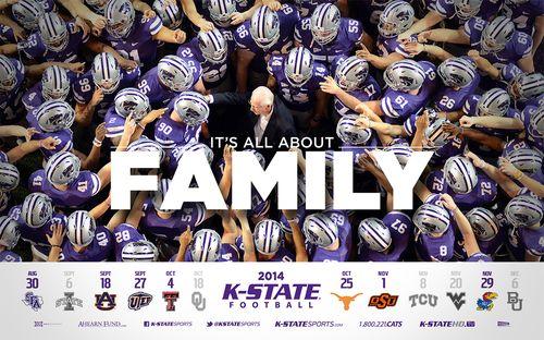 Kansas State Wildcats 2014 schedule poster