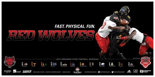 Arkansas State Red Wolves 2014 poster schedule 1