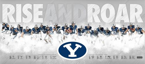 Brigham Young BYU Cougars 2014 schedule poster
