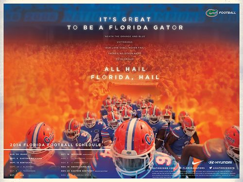 Florida Gators 2014 poster schedule
