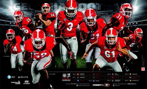 Georgia Bulldogs 2014 poster schedule