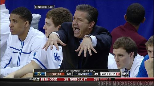 John Calipari Kentucky Wildcats