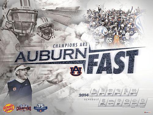 Auburn Tigers 2014 schedule poster