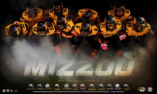 Missouri Tigers 2014 schedule poster