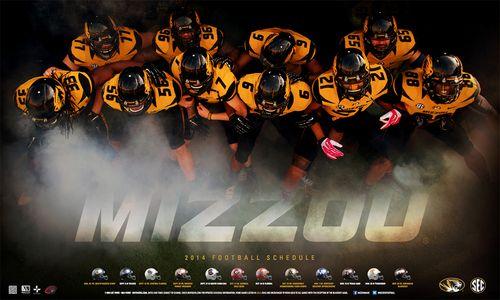 Missouri Tigers 2014 schedule poster